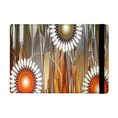 Floral Abstract Pattern Background Apple Ipad Mini Flip Case