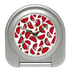 Fruit Watermelon Seamless Pattern Travel Alarm Clocks by Nexatart