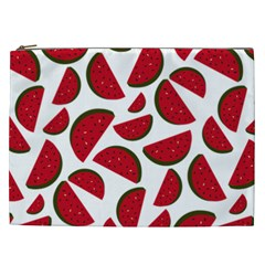 Fruit Watermelon Seamless Pattern Cosmetic Bag (xxl)  by Nexatart