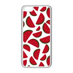Fruit Watermelon Seamless Pattern Apple Iphone 5c Seamless Case (white) by Nexatart