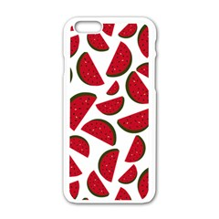 Fruit Watermelon Seamless Pattern Apple Iphone 6/6s White Enamel Case by Nexatart