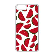 Fruit Watermelon Seamless Pattern Apple Iphone 7 Plus White Seamless Case by Nexatart