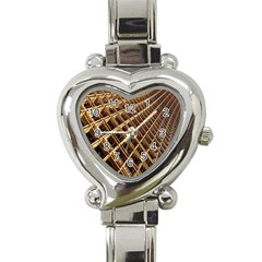 Construction Site Rusty Frames Making A Construction Site Abstract Heart Italian Charm Watch by Nexatart