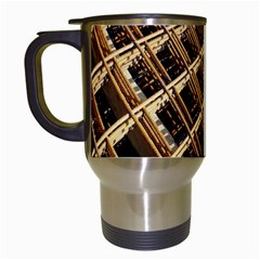 Construction Site Rusty Frames Making A Construction Site Abstract Travel Mugs (white) by Nexatart
