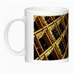 Construction Site Rusty Frames Making A Construction Site Abstract Night Luminous Mugs by Nexatart