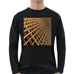 Construction Site Rusty Frames Making A Construction Site Abstract Long Sleeve Dark T-shirts by Nexatart