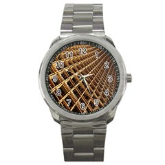 Construction Site Rusty Frames Making A Construction Site Abstract Sport Metal Watch by Nexatart