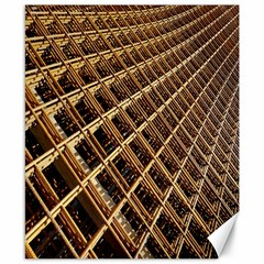 Construction Site Rusty Frames Making A Construction Site Abstract Canvas 8  X 10  by Nexatart