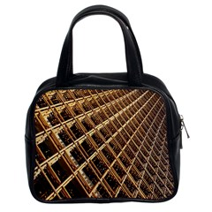 Construction Site Rusty Frames Making A Construction Site Abstract Classic Handbags (2 Sides) by Nexatart