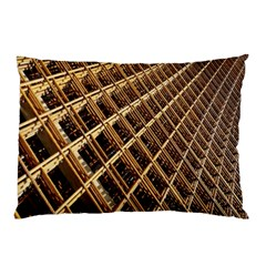 Construction Site Rusty Frames Making A Construction Site Abstract Pillow Case by Nexatart