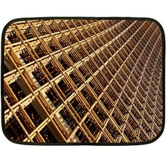 Construction Site Rusty Frames Making A Construction Site Abstract Fleece Blanket (mini) by Nexatart