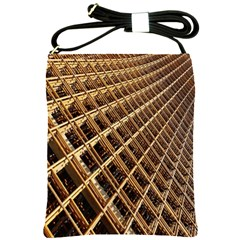 Construction Site Rusty Frames Making A Construction Site Abstract Shoulder Sling Bags by Nexatart