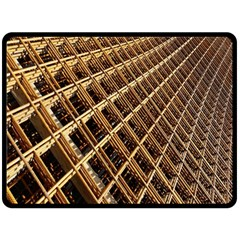 Construction Site Rusty Frames Making A Construction Site Abstract Fleece Blanket (large)
