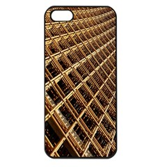 Construction Site Rusty Frames Making A Construction Site Abstract Apple Iphone 5 Seamless Case (black) by Nexatart