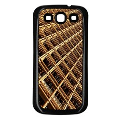 Construction Site Rusty Frames Making A Construction Site Abstract Samsung Galaxy S3 Back Case (black) by Nexatart