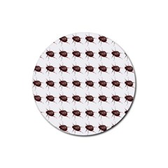 Insect Pattern Rubber Coaster (round)  by Nexatart