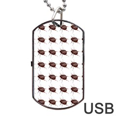 Insect Pattern Dog Tag Usb Flash (one Side) by Nexatart