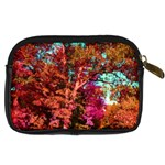 Abstract Fall Trees Saturated With Orange Pink And Turquoise Digital Camera Cases Back