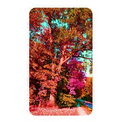 Abstract Fall Trees Saturated With Orange Pink And Turquoise Memory Card Reader by Nexatart