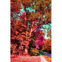 Abstract Fall Trees Saturated With Orange Pink And Turquoise 5 5  X 8 5  Notebooks by Nexatart
