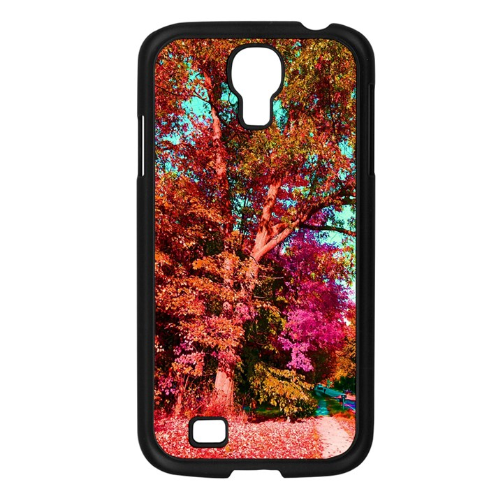 Abstract Fall Trees Saturated With Orange Pink And Turquoise Samsung Galaxy S4 I9500/ I9505 Case (Black)