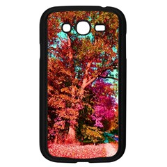 Abstract Fall Trees Saturated With Orange Pink And Turquoise Samsung Galaxy Grand Duos I9082 Case (black) by Nexatart