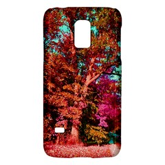 Abstract Fall Trees Saturated With Orange Pink And Turquoise Galaxy S5 Mini