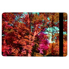 Abstract Fall Trees Saturated With Orange Pink And Turquoise Ipad Air 2 Flip by Nexatart