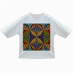 Kaleidoscopic Pattern Colorful Kaleidoscopic Pattern With Fabric Texture Infant/toddler T Shirts
