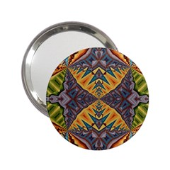 Kaleidoscopic Pattern Colorful Kaleidoscopic Pattern With Fabric Texture 2 25  Handbag Mirrors