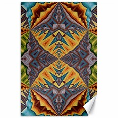 Kaleidoscopic Pattern Colorful Kaleidoscopic Pattern With Fabric Texture Canvas 24  X 36  by Nexatart