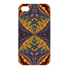 Kaleidoscopic Pattern Colorful Kaleidoscopic Pattern With Fabric Texture Apple Iphone 4/4s Premium Hardshell Case