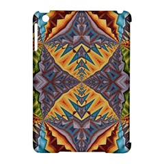 Kaleidoscopic Pattern Colorful Kaleidoscopic Pattern With Fabric Texture Apple Ipad Mini Hardshell Case (compatible With Smart Cover)