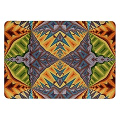 Kaleidoscopic Pattern Colorful Kaleidoscopic Pattern With Fabric Texture Samsung Galaxy Tab 8 9  P7300 Flip Case by Nexatart