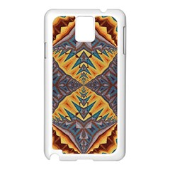 Kaleidoscopic Pattern Colorful Kaleidoscopic Pattern With Fabric Texture Samsung Galaxy Note 3 N9005 Case (white) by Nexatart