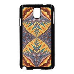 Kaleidoscopic Pattern Colorful Kaleidoscopic Pattern With Fabric Texture Samsung Galaxy Note 3 Neo Hardshell Case (black)