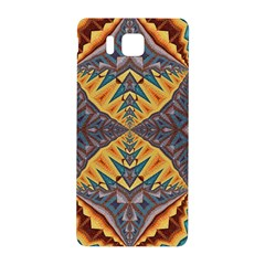 Kaleidoscopic Pattern Colorful Kaleidoscopic Pattern With Fabric Texture Samsung Galaxy Alpha Hardshell Back Case