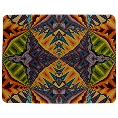 Kaleidoscopic Pattern Colorful Kaleidoscopic Pattern With Fabric Texture Jigsaw Puzzle Photo Stand (rectangular) by Nexatart
