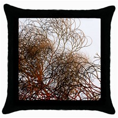 Digitally Painted Colourful Winter Branches Illustration Throw Pillow Case (black) by Nexatart