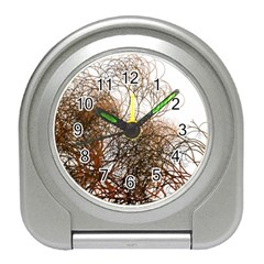 Digitally Painted Colourful Winter Branches Illustration Travel Alarm Clocks
