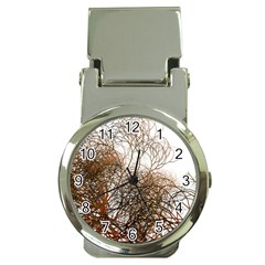 Digitally Painted Colourful Winter Branches Illustration Money Clip Watches by Nexatart