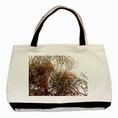 Digitally Painted Colourful Winter Branches Illustration Basic Tote Bag by Nexatart