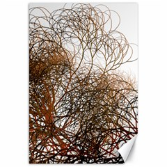 Digitally Painted Colourful Winter Branches Illustration Canvas 20  X 30