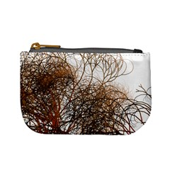 Digitally Painted Colourful Winter Branches Illustration Mini Coin Purses by Nexatart