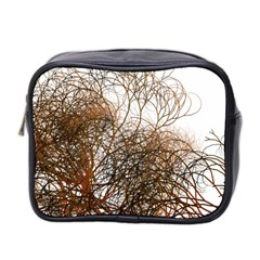 Digitally Painted Colourful Winter Branches Illustration Mini Toiletries Bag 2 Side