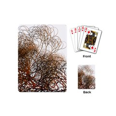 Digitally Painted Colourful Winter Branches Illustration Playing Cards (mini)  by Nexatart