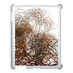 Digitally Painted Colourful Winter Branches Illustration Apple Ipad 3/4 Case (white) by Nexatart