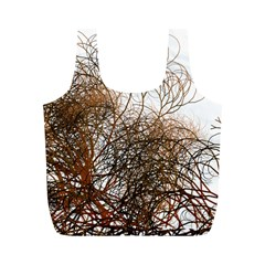 Digitally Painted Colourful Winter Branches Illustration Full Print Recycle Bags (m)  by Nexatart