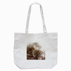 Digitally Painted Colourful Winter Branches Illustration Tote Bag (white) by Nexatart