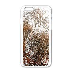 Digitally Painted Colourful Winter Branches Illustration Apple Iphone 6/6s White Enamel Case by Nexatart